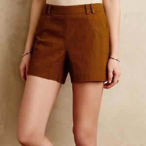 Elevenses olive tailored high waisted shorts